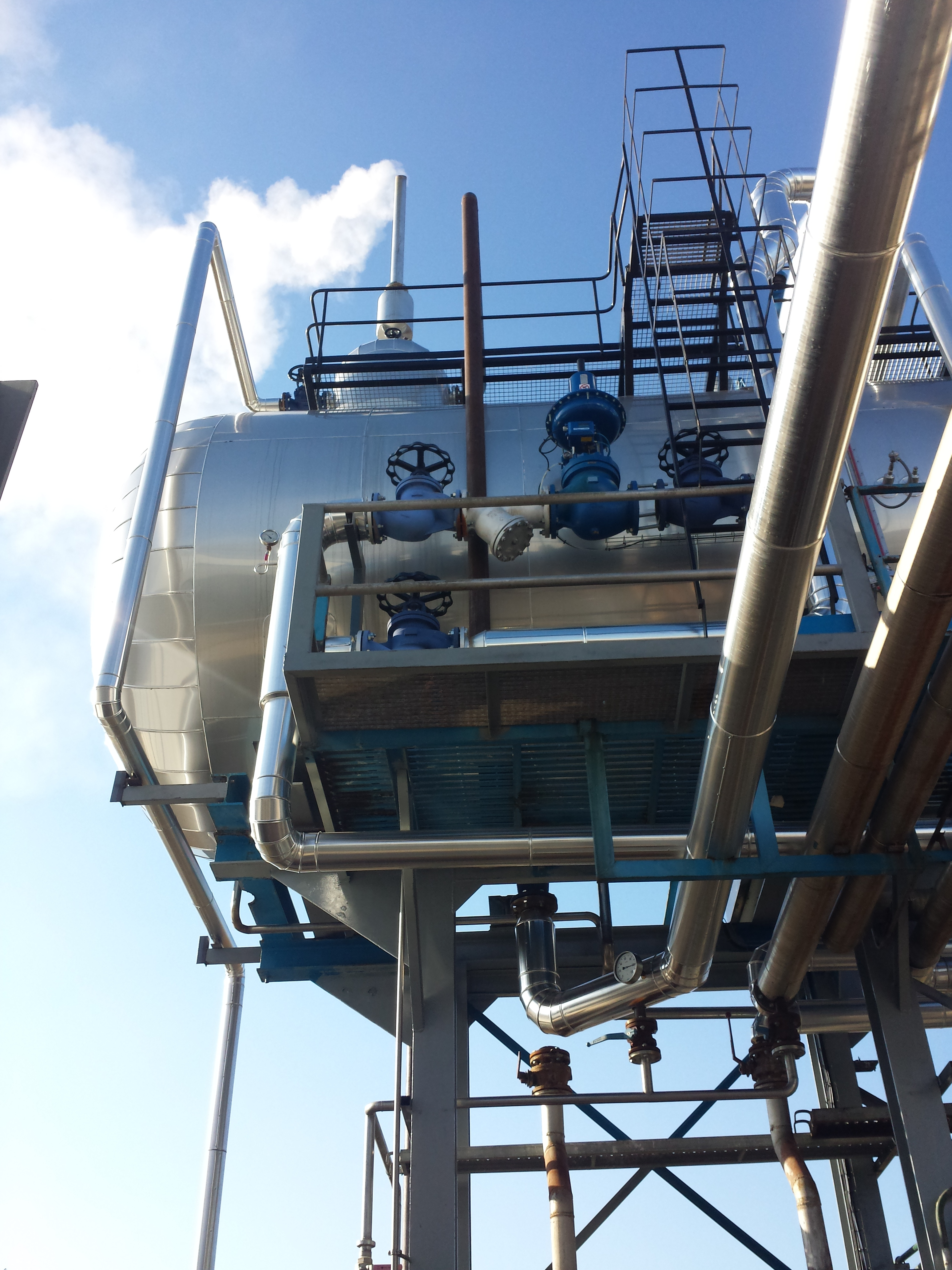 Calderas de vapor desgasificador DGV 3 Calderería López Hermanos, S.A. Valencia