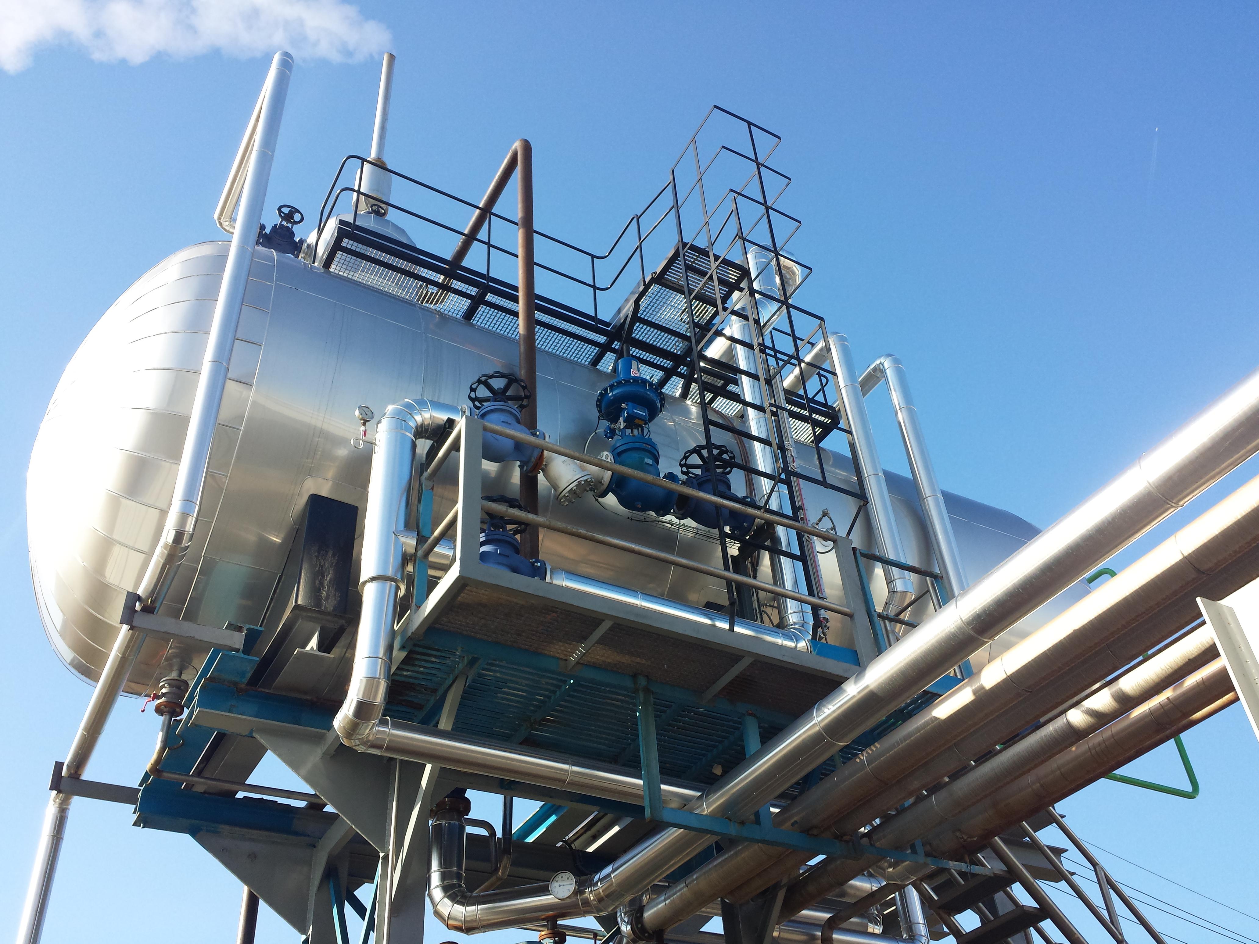 Calderas de vapor desgasificador DGV 1 Calderería López Hermanos, S.A. Valencia