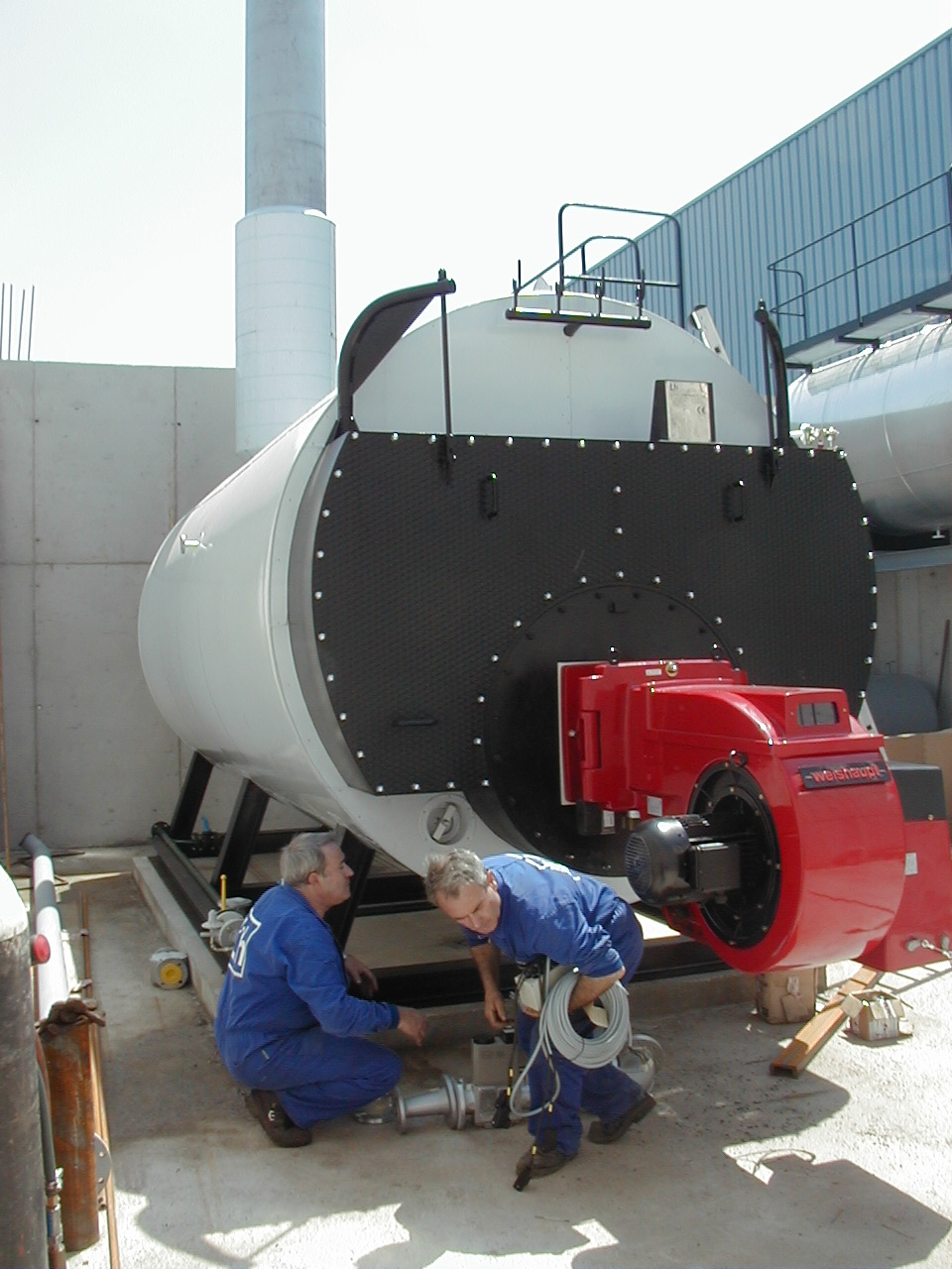 caldera de vapor pirotubular GVL-H Calderería López Hermanos, S.A. Valencia