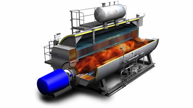 Caldera de vapor pirotubular GVLH2 Calderería López Hermanos, S.A. Valencia